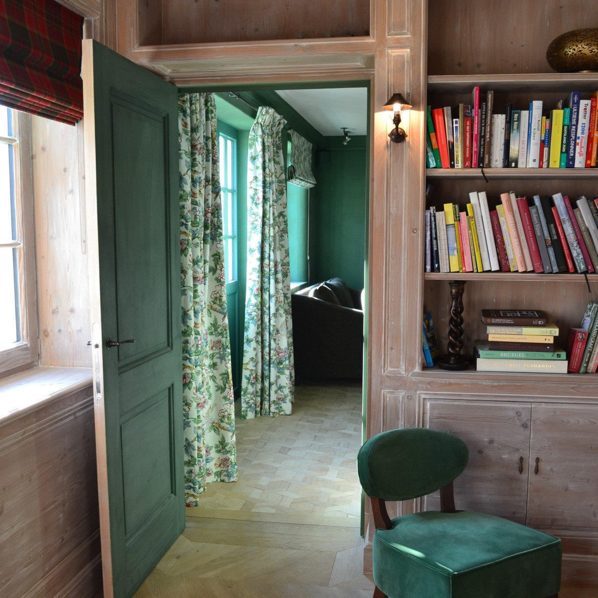 Library - Lambrisering - Panelling - Boiserie - Lefèvre Interiors Belgium
